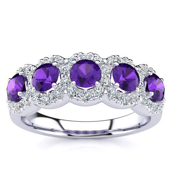 Amy Amethyst Ring