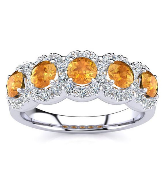 Amy Yellow Citrine Ring