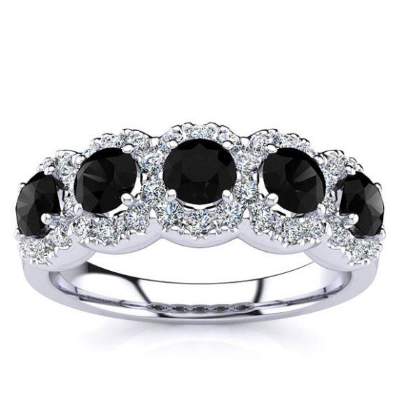 Amy Black Diamond Ring