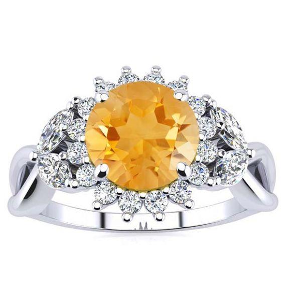 Cathy Citrine Ring