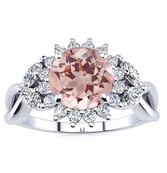 Cathy Morganite Ring