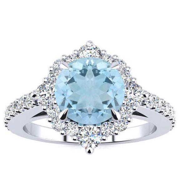Shannel Aquamarine Ring
