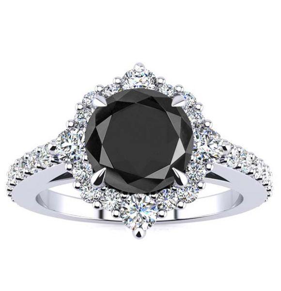Shannel Black Diamond Ring