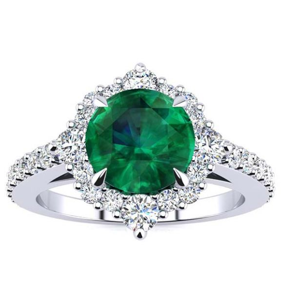 Shannel Emerald Ring