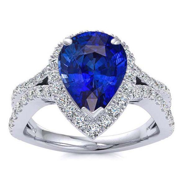 Jasmine Blue Sapphire Ring