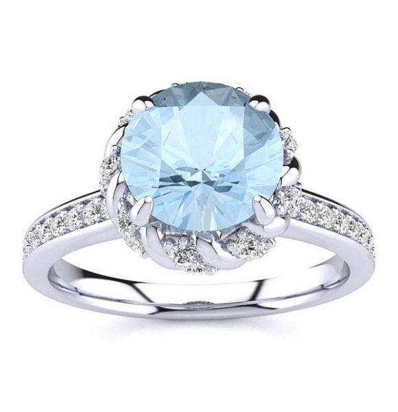Sultana Aquamarine Ring