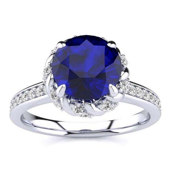 Sultana Blue Sapphire Ring
