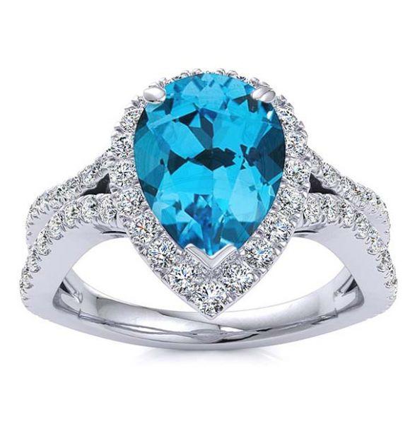 Jasmine Blue Topaz Ring