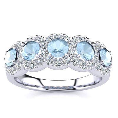 Amy Aqumarine Ring