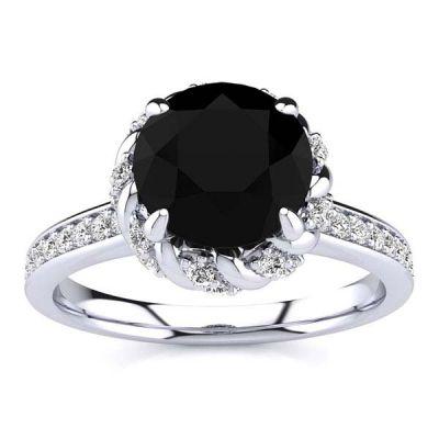 Sultana Black Diamond Ring