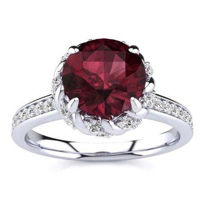 Sultana Garnet Ring