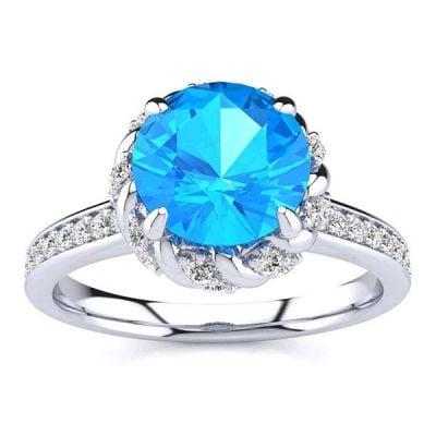 Sultana Blue Topaz Ring
